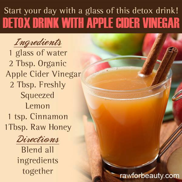 Amazing Apple Cider Vinegar Detox Drink